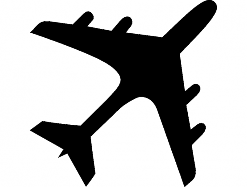 Airplane Silhouette Dxf File Free Download 3axis Co