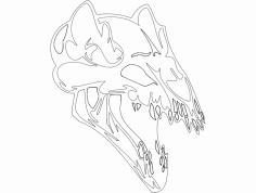 Skull 001 dxf File