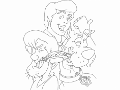 Scooby Doo 2 dxf File
