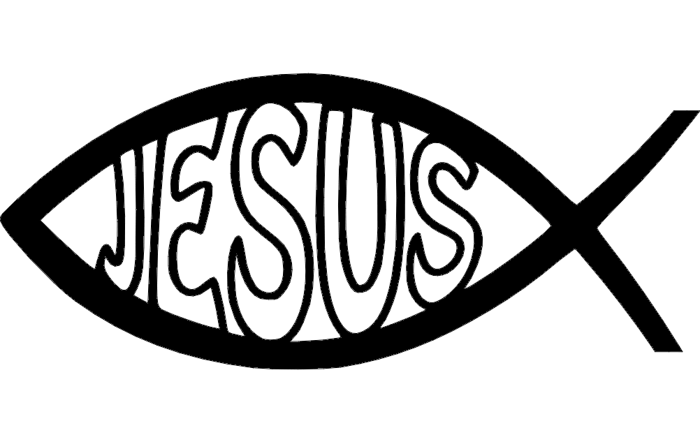 Jesus Fish Dxf File Free Download 3axis