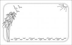 Floral Frame dxf File