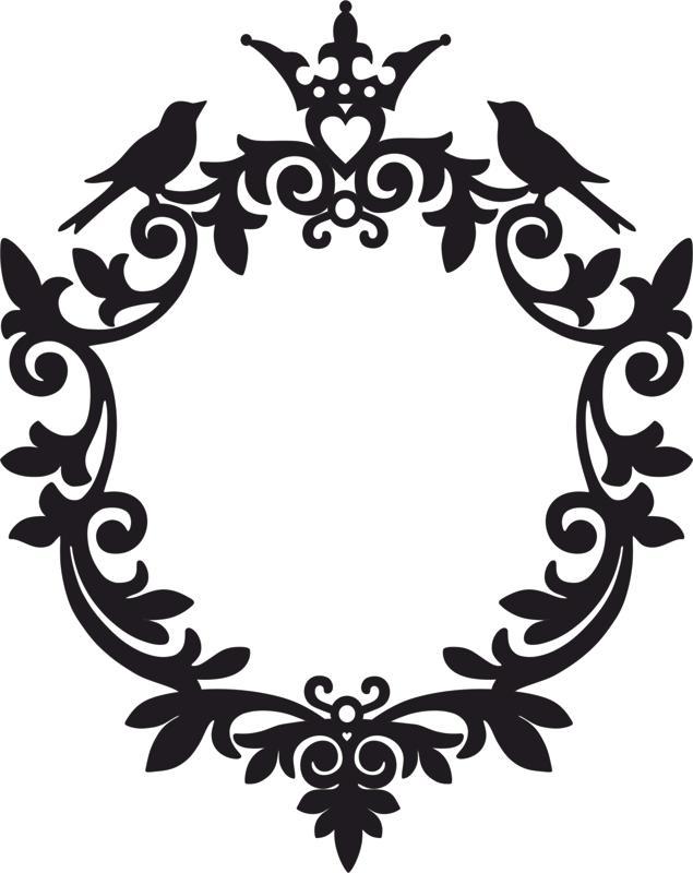 round monogram leaf patterns free vector cdr download