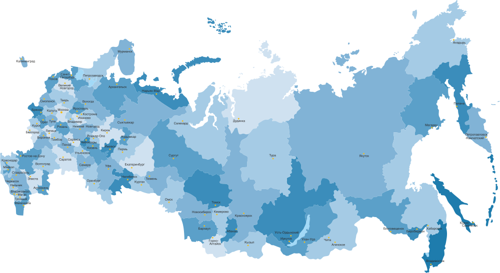 Russia Map Highly Detailed Vector Free Vector cdr Download - 3axis co