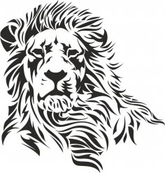 Lion Stencil Vector CDR File