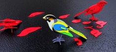 Bird 3D Puzzle CDR File