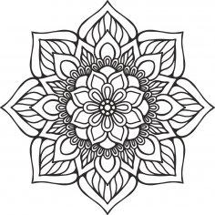 Mandala Indian Vector CDR File