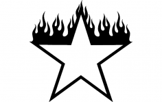 Burning Star Design dxf File