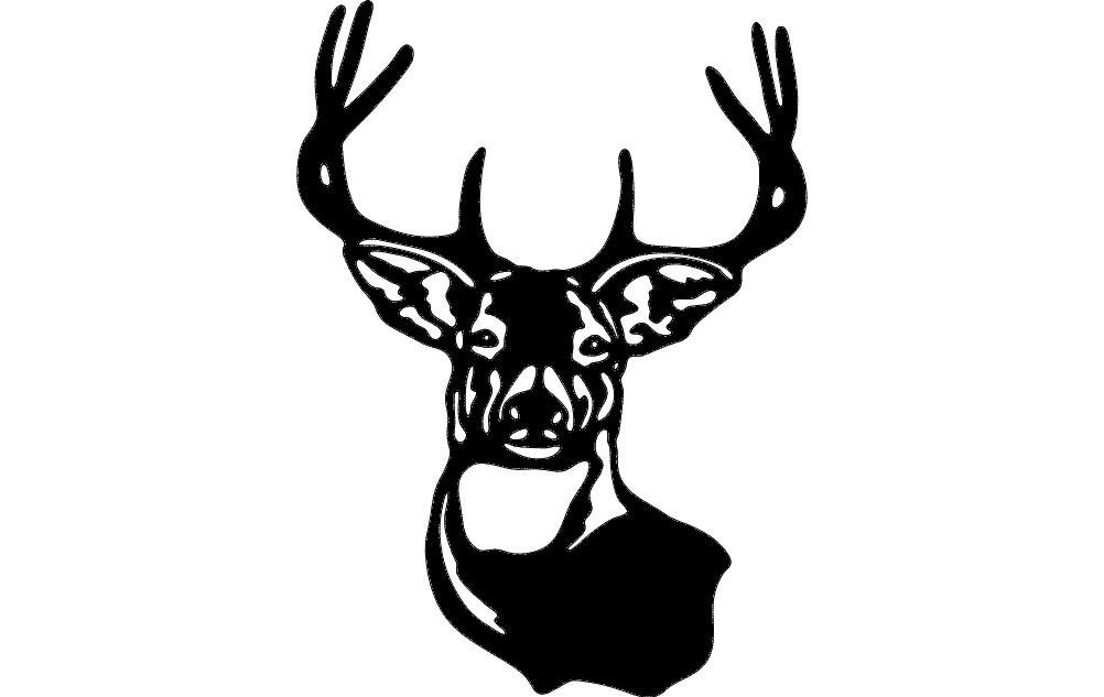 Buck Mule Deer Dxf File Free Download 3axis Co