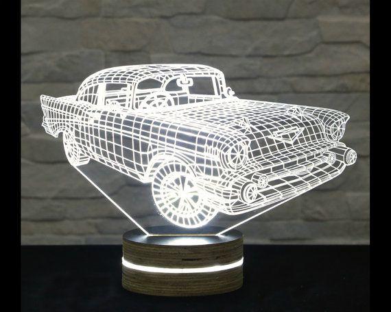 Car 3D LED Night Light CDR File