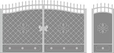 Metal Gate Forged Ornaments Vector Art CDR File