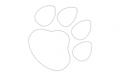 Dog paw print dxf File