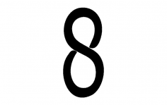Number 8hw dxf File