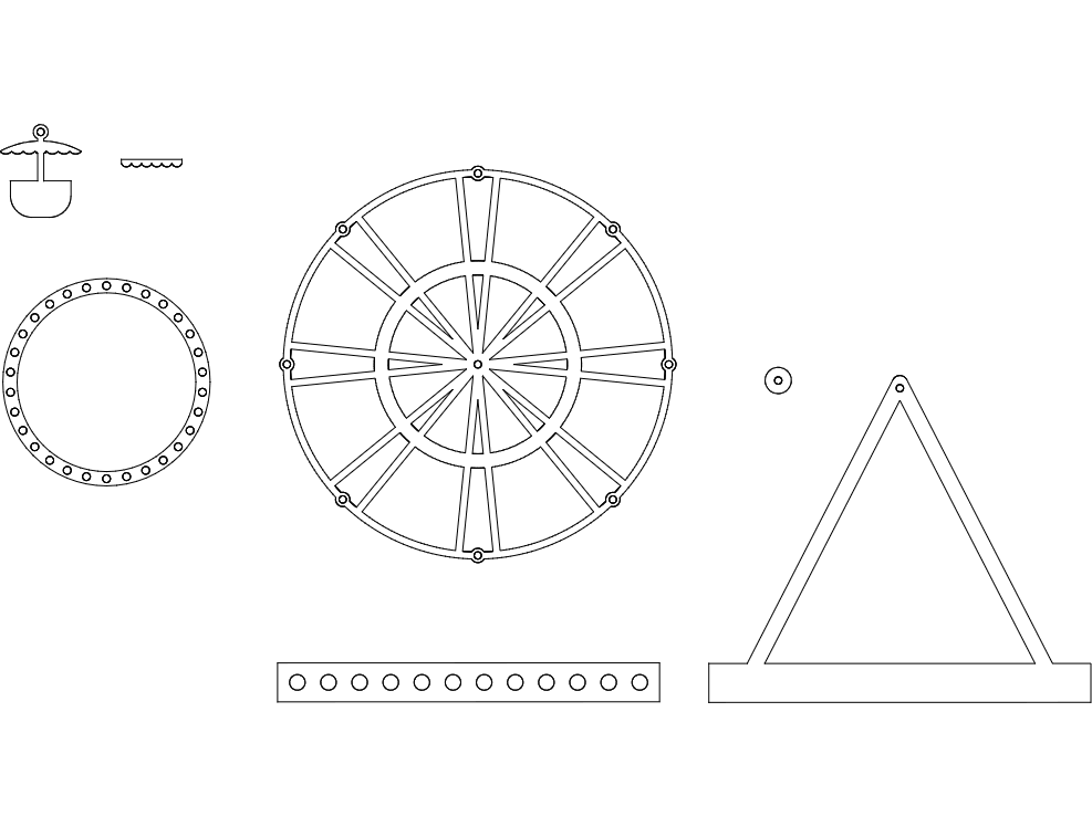 Ferris wheel dxf File Free Download - 3axis co