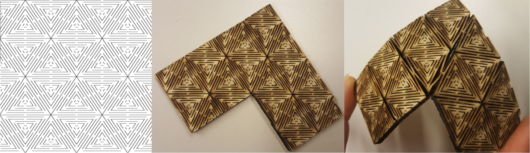 Geodesic Pattern Living Hinge Template for Laser Cut DXF File Free