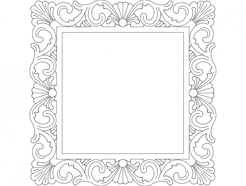 Mirror Frame Square dxf File Free Download - 3Axis.co