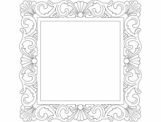 Mirror Frame Square dxf File