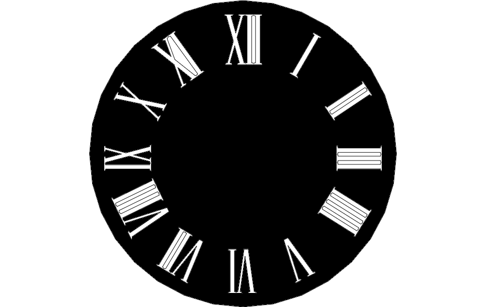 Wall Clock Design dxf File Free Download - 3axis co