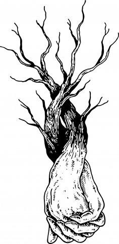 Hands Tree Vector CDR File