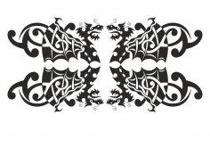 Silhouette Dragon vector art CDR File