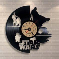 Vinyl Record Clock Star Wars Wall Decor CDR File