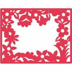 Floral Nature Frame dxf File