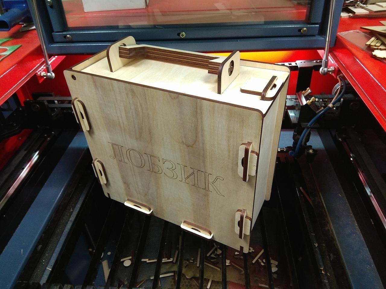 Laser Cut Tool Box With Handle 6mm Free Vector cdr Download - 3axis co