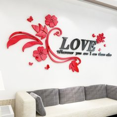 Love Wall Sticker CDR File