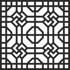 Geometric Jali Design CDR File