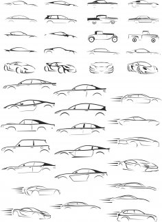 Cars Silhouettes Collection CDR File
