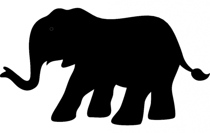 elephant silhouette vector dxf file free download