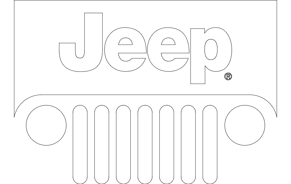Jeep Logo dxf File Free Download - 3axis co
