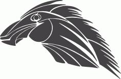 Tribal Horse Tattoo Clip Art DXF File