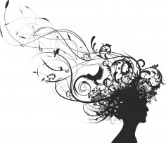 Curly Woman Vector Free Vector