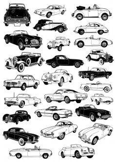 Classic Car Vectors CDR File