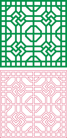 Square Design Pattern DXF File