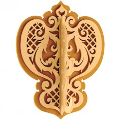 Decorative Wall Hanger Decorative Hooks DXF File