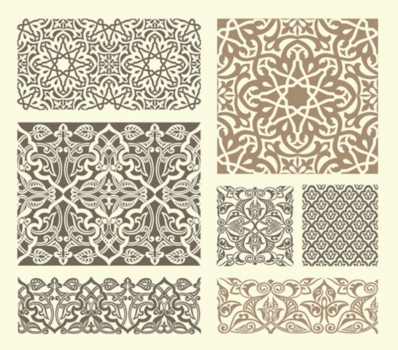 Scrollwork Islamic Pattern Collection Dxf File Free