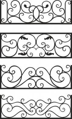 Steel Balcony Rails CDR File