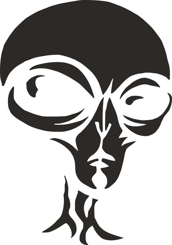 Alien Pumpkin Carving Stencil Dxf File Free Download