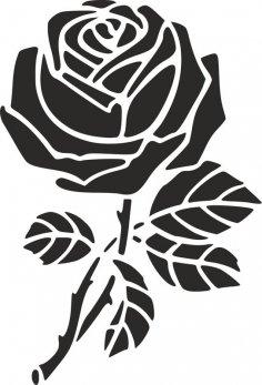 Rose Stencil dxf File