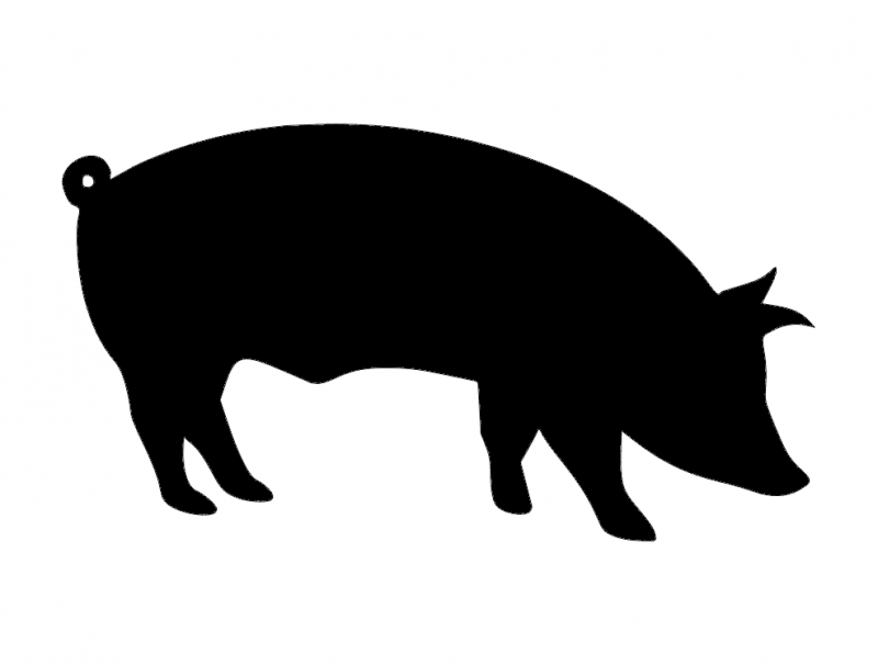 Pig Silhouette dxf File
