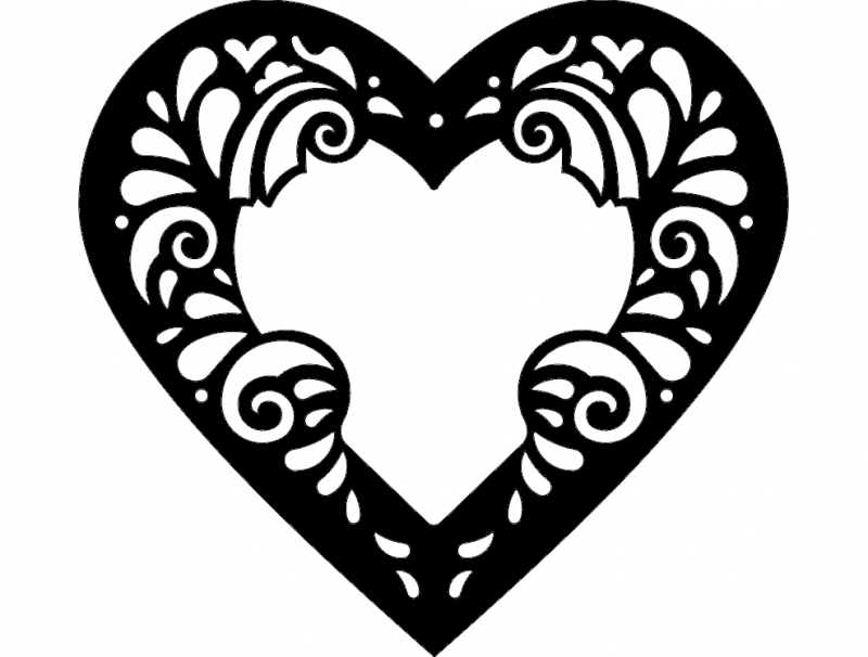 Heart Frame Dxf File Free Download 3axis Co