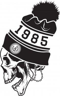 Skull sticker 1985 CDR File