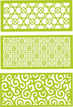 Decorative jali patterns CDR File