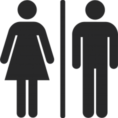 Toilet Man And Woman Sign CDR File