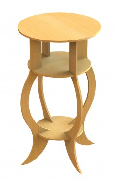 Table (Stool) dxf file