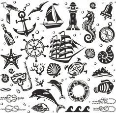 Nautical Set Free Vector
