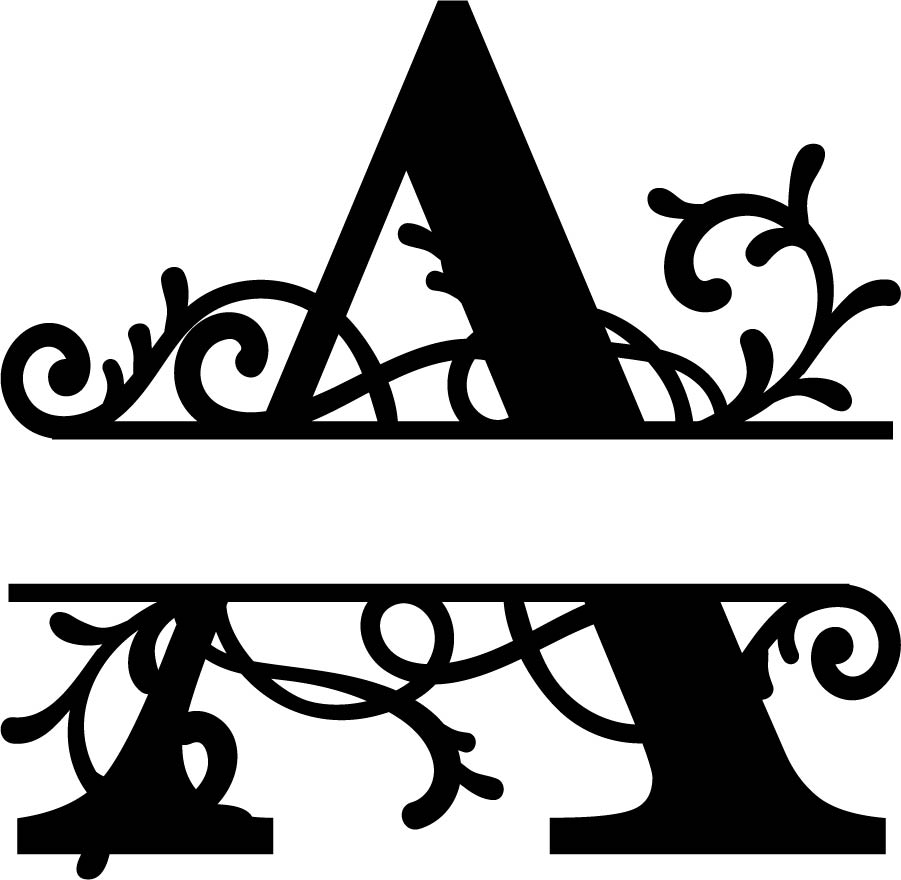 Split Monogram Letter A Dxf File Free Download 3axis Co
