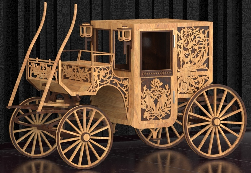 Stage Coach Laser Cut Plans PDF File Free Download - 3axis co