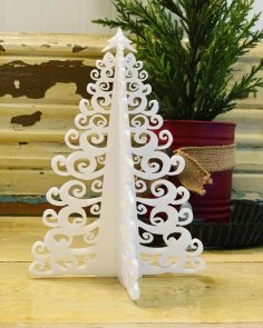 Laser Cut Christmas Tree Template SVG File